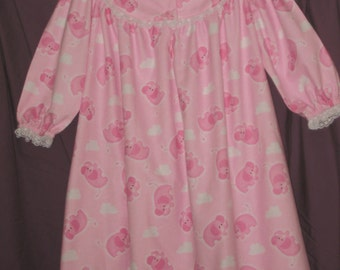 Elephants and Clouds  Nightie size 3