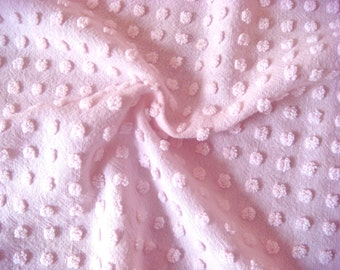 Light Pink Morgan Jones Pops Vintage Chenille Fabric 18 x 24 Inches