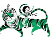 Green Tiger Screenprint