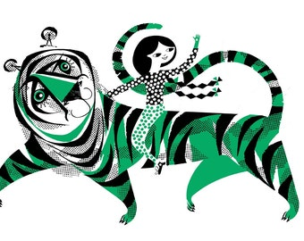 Green Tiger Screenprint