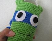 Crochet Knit - Teenage Mutant Ninja Turtles Water Bottle holder-TMNT for travel - Easter baskets