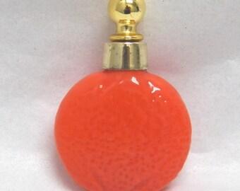 Mini Perfume  Bottle  Orange Figural  Germany Vintage