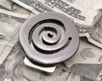Spiral Money Clip, Gift for Best Man, Groomsmen Gift, Mens Money clip, Industrial Money Clip, Spiral Moneyclip, Money Clips for Men