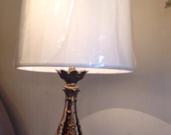 Vintage mid Century / French Lamp new shade