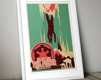 Star Wars Inspired Vintage Offset Skywalker Print (A3)