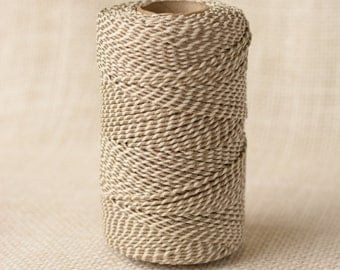 Full Spool Heavy Twine - 100 Yards - Antique Pewter (Platinum Metallic) Shimmer - 10 Ply Heavy Cotton Twine No. 36