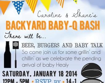 DIY Baby Q Shower Invitation