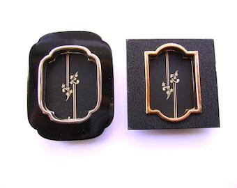 Vintage Japanese Door Pull - Vintage Door Pulls - Japanese Fusma - Traditional Japanese -  Door  Handles Gold  Black  B14