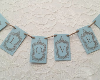 Seahorse Mini Banner Wedding Love Decoration Bunting Garland Photo Prop