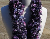 Purple Panther Fabric Ruffle Scarf