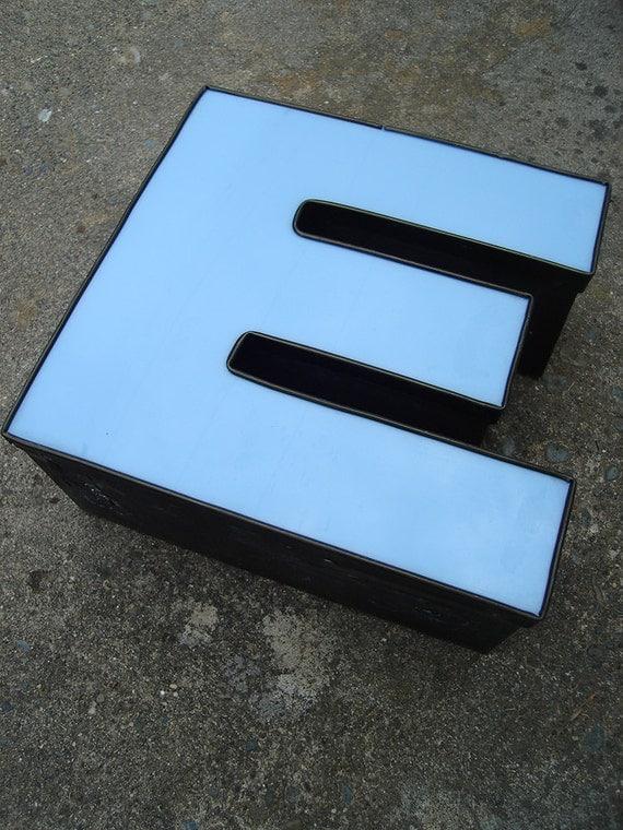 E letter large capital e wall decor white decorative for Large letter e for wall
