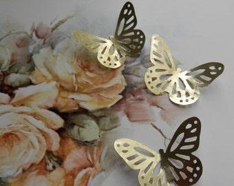 Petite Tresor- Delicate Vintage Gold Foil Butterflies