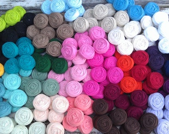 15 fabric rosettes- YOU PICK your colors