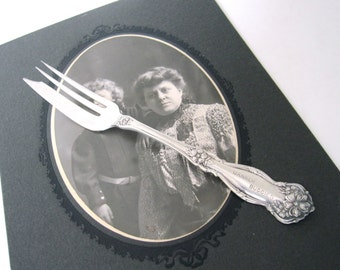 Antique Banner Buggies Pastry Fork, Arbutus 1908 by Wm Rogers & Son Silverplate, Advertising Flatware