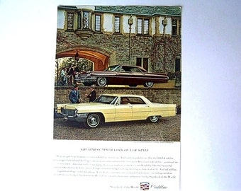 Original Vintage AD Advertisement Kitchen Print   *Additional Ads Ship Free*  CADILLAC