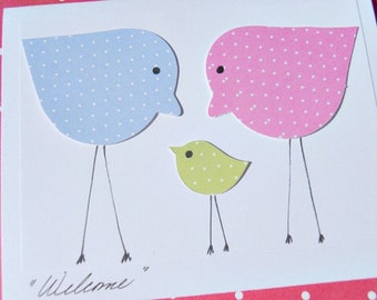 Welcome Baby Card - Congratulations on Baby Card - Baby Shower Card - Baby Chick Cards -  Baby Gift Thank You Cards - LBSTY1