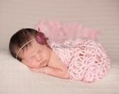 Knitting PATTERN, Newborn Blanket Pattern, Newborn Photo Prop Pattern, Newborn Girl Blanket, Newborn Girl Wrap Pattern
