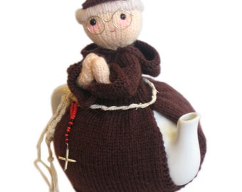 FRANCISCAN Priest from Rome Tea Cosy PDF Email Crochet PATTERN