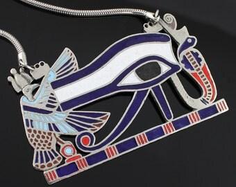 Vintage Egyptian Eye of Horus Necklace