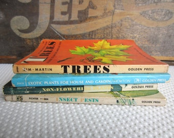 Vintage 1960s Zims Plants Trees Insects Pests Golden Nature Identification Guides