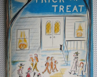 Vintage 1959 Trick or Treat Louis Slobodkin Childrens Book