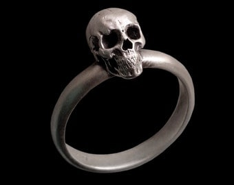 925 Sterling silver Mini Engagement Skull ring band - All Sizes availables