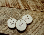Rustic Favor Tags Initials and Arrow 100 Tree Tags