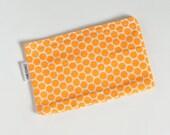 Snack Bag Tangerine Dots Eco Friendly
