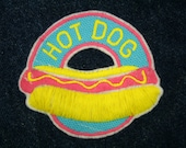 Hot Dog Fast Food Iron On Patch