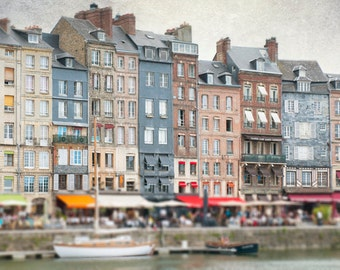 France Travel Photography, Harbor at Honfleur, French Home Decor, Fine Art  Photograph, Large Wall Art
