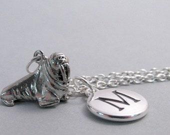 Walrus Charm  Silver Plated Walrus Charm Supplies