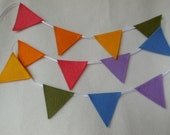 mini felt bunting . muted rainbow . garland