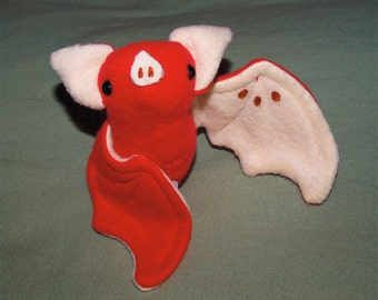 Fruit Bat Plushie - Red Apple Bat