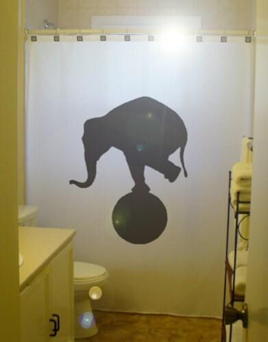 Circus Elephant Shower Curtain Funny Bathroom Decor Bath Kids