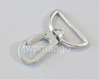 10 Silver Metal Swivel Lobster Clasps... Clips... Trigger... Large D Ring... H144-10