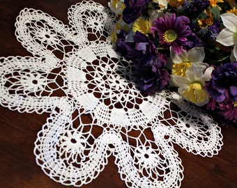 Beautiful  White  Crochet  doily