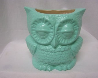 Small Tootsie Pop Owl Mini Vase Mint Green