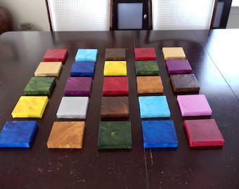 Canvas - Original Painting - Squares - Multi Coloured - Blocks - Wall Art - Wall Decor Mini Canvas Square 5x5 -Any 6 Medium