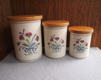 Lenox Poppies on Blue For the Blue Canister Canisters Center Poppies Poppy