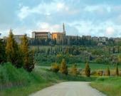 Italy Photo Tuscany Photograph Italian Landscape Print Pienza Spring Green Countryside  ita96