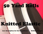elastic-Bulk-3/4 inch  WHITE -  KNITTED Elastic - 50 Yard  Rolls For Clothing - Crafts