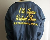 70s novelty Michigan VARSITY bar jacket size large