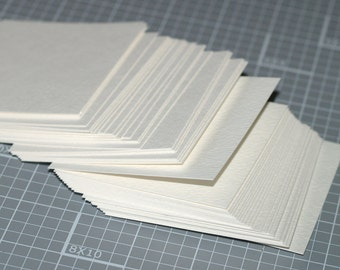 """25 Watercolor Cards ... 3"""" Squares Strathmore Cold Press Art Supplies Square or Round Corners Acid Free Archival Watercolour Painting"""
