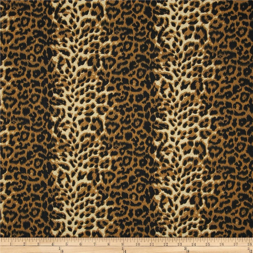 Designer fabric shower curtain animal leopard by kirtamdesigns for Designer animal print fabric