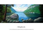 Digital Print of Original Oil Painting Of Willougby Lake in Westmore Vermont