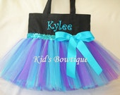 Monogrammed Peacock Color Theme Tutu Bag - Dance Tutu Bag