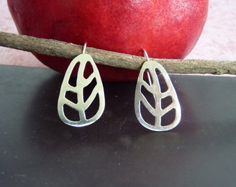 Silver Leaf Earrings - Sterling Silver Earrings | Handcrafted Jewelry