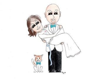 Custom Wedding & Engagement Caricatures