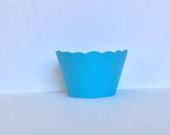Blue Turquoise Cupcake Wrappers SALE
