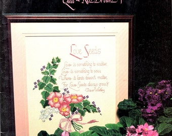 Expressions of Love Prayers Blessings 23 Psalm Mother Kitchen Wedding Flowers Counted Cross Stitch Embroidery Craft Pattern Leaflet 61